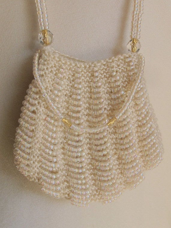 Mini Purse Pendant Wedding Necklace Ivory White &… - image 2
