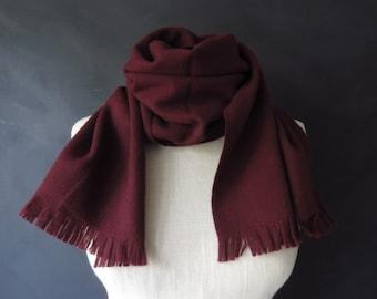 Burgundy Virgin Wool Neck Scarf Handcraft Inc. Made in Western Germany! Vintage Roos Atkins
