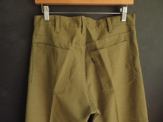 """60s Big """"E"""" Levi's Green Cotton/Polyester Sta-Pres"""