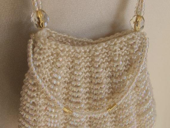 Mini Purse Pendant Wedding Necklace Ivory White &… - image 4
