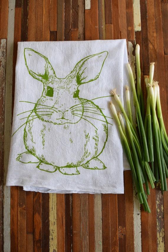 Tea Towel Dish Towels Screen Printed Tea Towel Kitchen Etsy