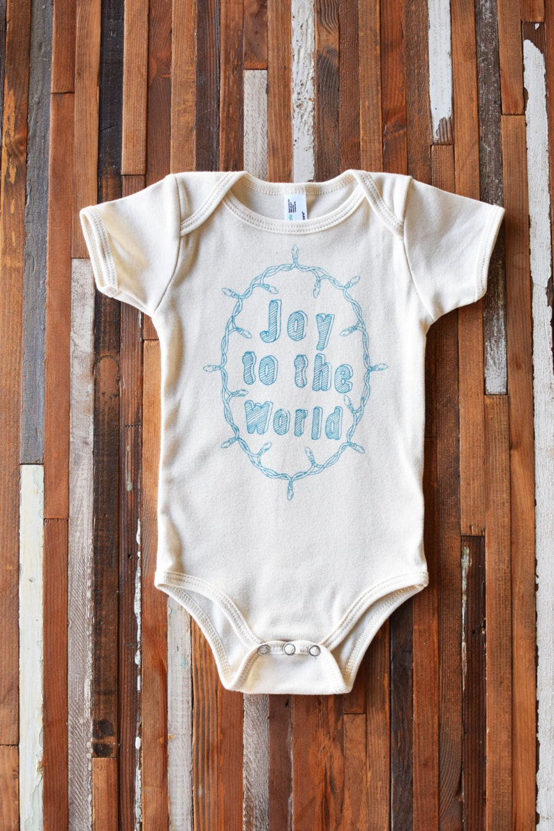 68f80b946ba15 Christmas Baby Outfit - Organic Cotton - One Piece - Screen Print -  Bodysuit - Organic Baby Clothes - Romper - Toddler T Shirt - Hipster