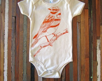 Organic Baby Clothes - Screen Printed Baby Clothes - Bird - Organic Cotton - Bodysuit - One Piece - Kids Clothing - Toddler Clothes - Tshirt