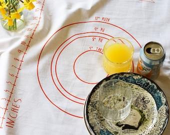 Tea Towel - Tea Towels Flour Sack - Organic Cotton Tea Towel - Kitchen Towels - Dish Towels - Screen Printed Tea Towels - Pastry Mat - Towel