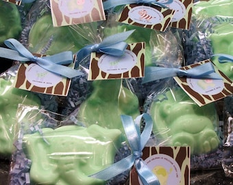 Set of 10 Safari Animal Soap Favors Baby Shower Party Favor Birthday