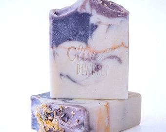 Lavender Natural Soap Bar - Cold Process Soap - Vegan Soap - Soap Bar