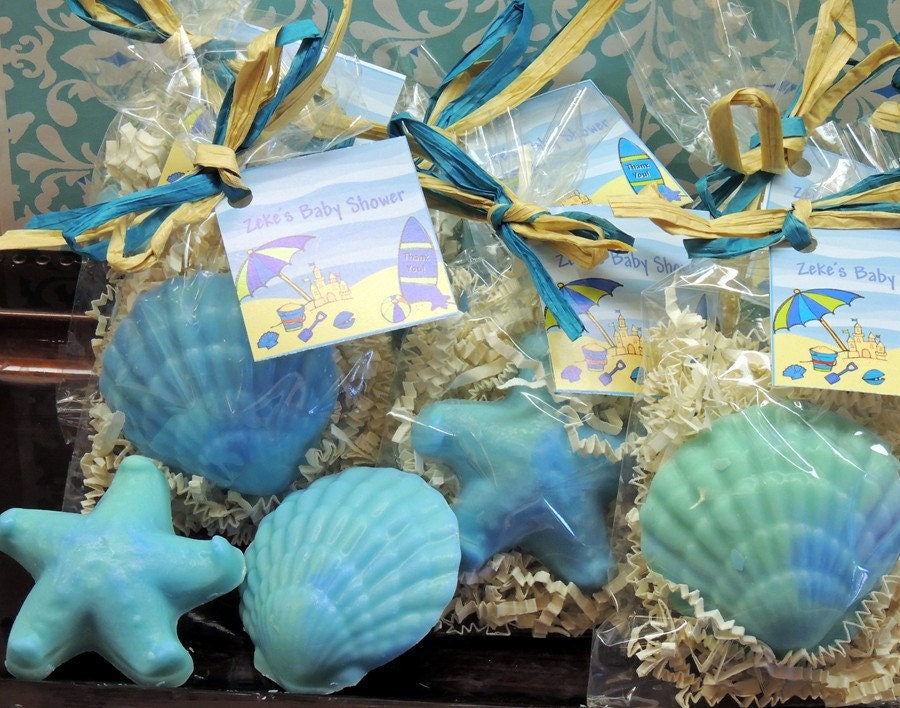 10 Seashell Starfish Soaps Party Favors For Tropical Beach Etsy