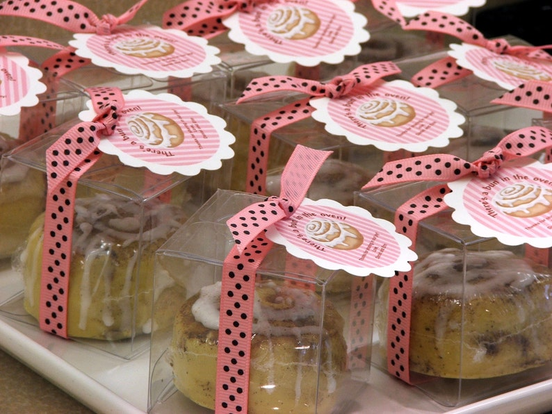 50 Bun in the Oven Cinnamon Bun Soap Baby Shower Party Favors image 0