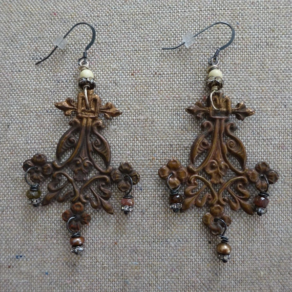 AMAZING Chandelier Earrings - Vintage Victorian Br