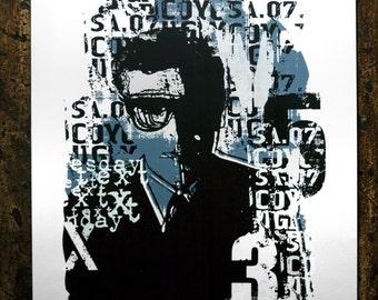 X Number Screenprint