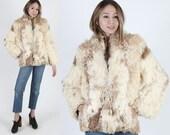 Vintage Lamb Fur Coat Mongolian Lamb Coat Persian Lamb Coat Real Fur Coat 70s Marbled Shaggy Curly Shearling Boho Womens Ivory Jacket