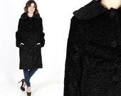 Bill Blass Jacket Faux Fur Coat Persian Lamb Coat Vintage Designer Faux Fur Princess Opera Stroller Formal Evening Jacket Coat