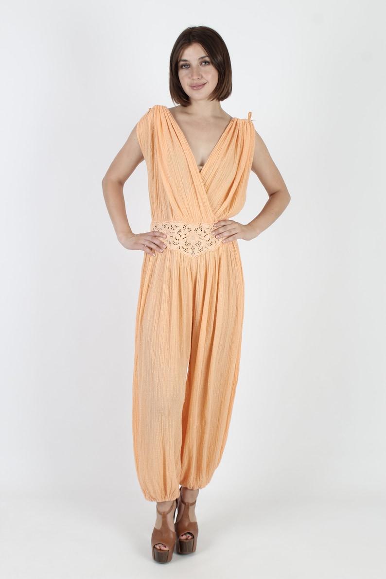 45c43f6dbe Gauze Jumpsuit India Jumpsuit Grecian Jumpsuit Wrap Dress