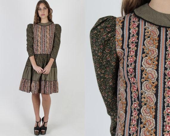 Rustic Country Prairie Dress / Vintage 80s Prairie
