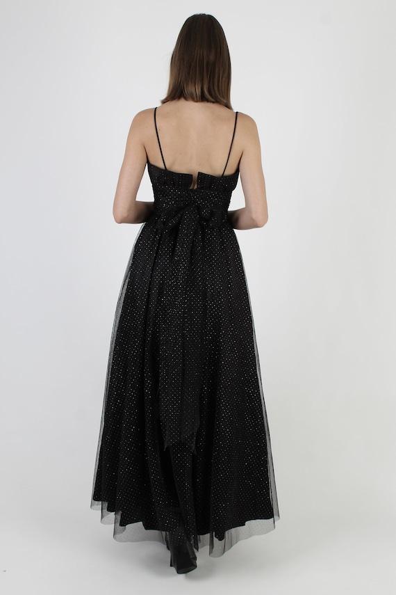 Vintage 80s Gothic Style Dress / Gunne Sax Black … - image 5