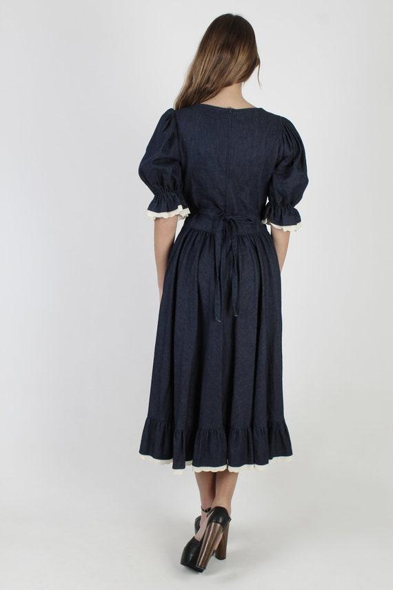 Country Western Dress / Pioneer Prairie Denim Jea… - image 5