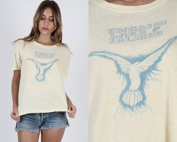 1972 Emerson Lake Palmer T Shirt / Vintage 70sTril