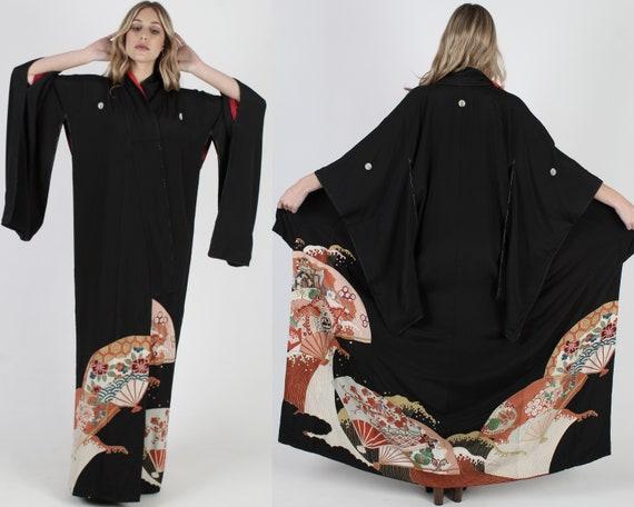Kimono Jacket Silk Kimono Duster Jacket Asian Kimo