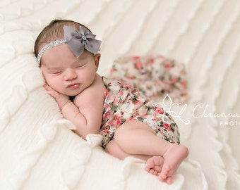 Stretch Lace Wrap Floral Newborn Photography Prop Baby Swaddle