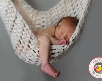 Newborn Hammock Sling Photo Prop Ivory White