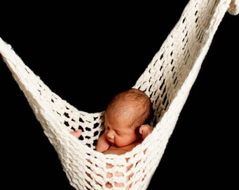 White Newborn Hammock Pod Photo Prop