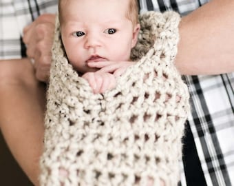 Hanging Infant Newborn Stork Sack Pod Swing Professional Photography Prop for Baby