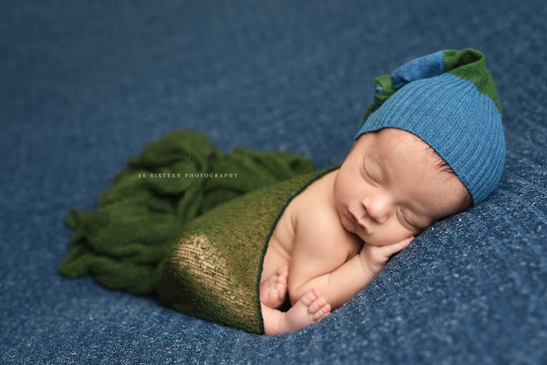 Forest Green Stretch Knit Baby Wrap Newborn Photography