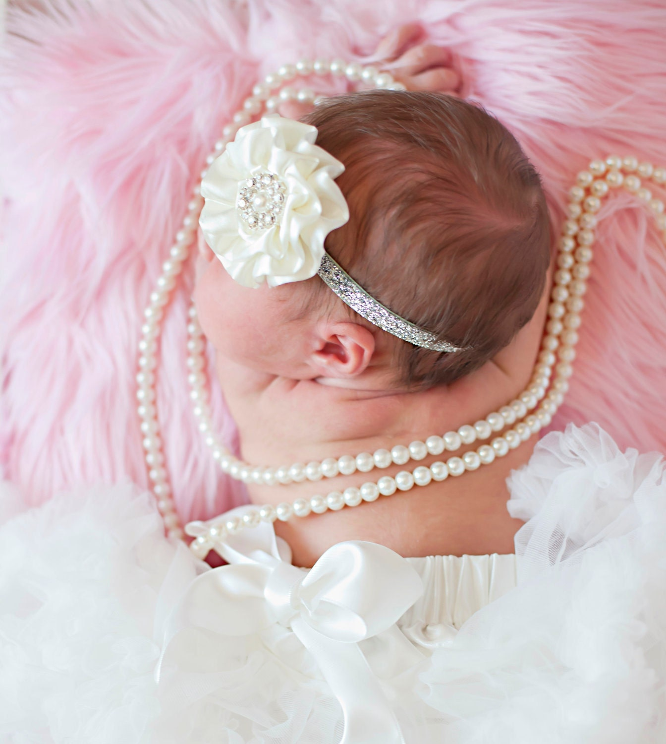 Soft Pink Mongolian Faux Fur Photography Prop Rug Newborn