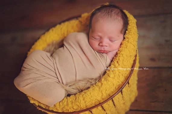 Beige Fabric Stretch Wrap Newborn Photography Prop Posing Etsy