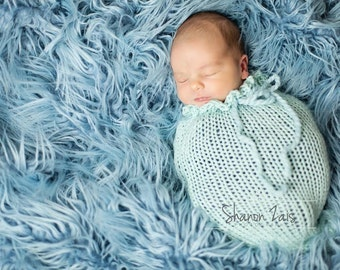 Glacier Blue Swaddle Sack Newborn Baby Photography Photo Prop