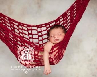 Newborn Hammock Red Pod Photo Prop