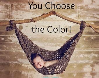 Baby Hammock Newborn Photography Prop - You Choose Color