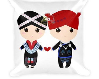 Mien Couple Square Pillow Etsy