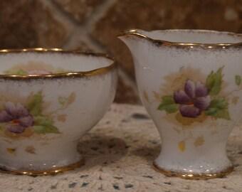 Charmaine Royal Standard Creamer and Open Sugar Bowl~Fine Bone China~England