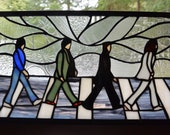Stained Glass Abbey Road Panel