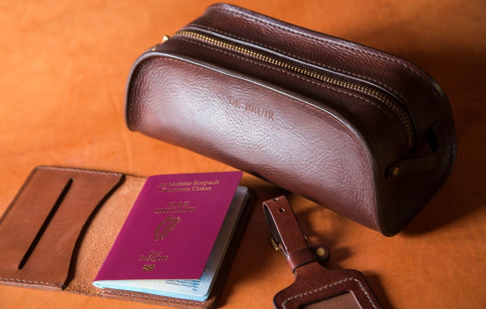 e8d626a36e07b Passport Booklet // Travel Accessories // Leather passport cover // DE BRUIR