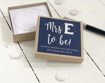 Personalised Soon To Be Hen Party Message Box | Hen Party Box | Bachelorette Party | Love & Advice | Guest Book | Worldwide Shipping