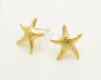4 Starfish charms gold tone GC28