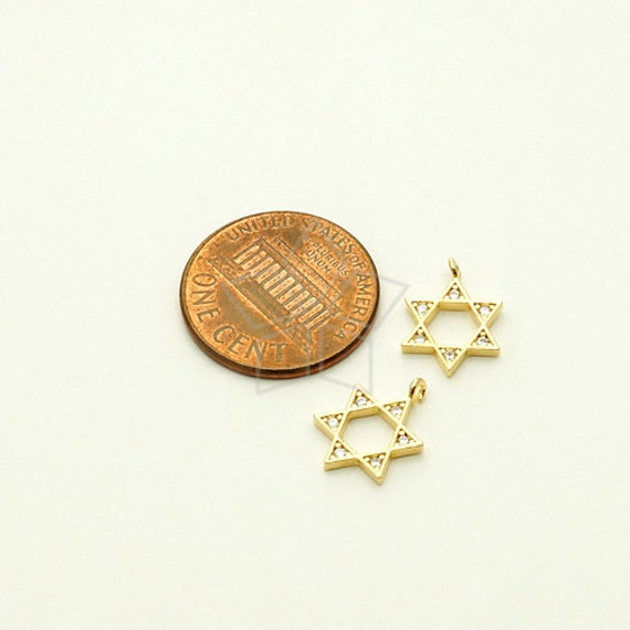Black Plated over Brass  11mm x 16mm Small Size PD-1479-GM  2 Pcs Precious CZ Drop Pendant