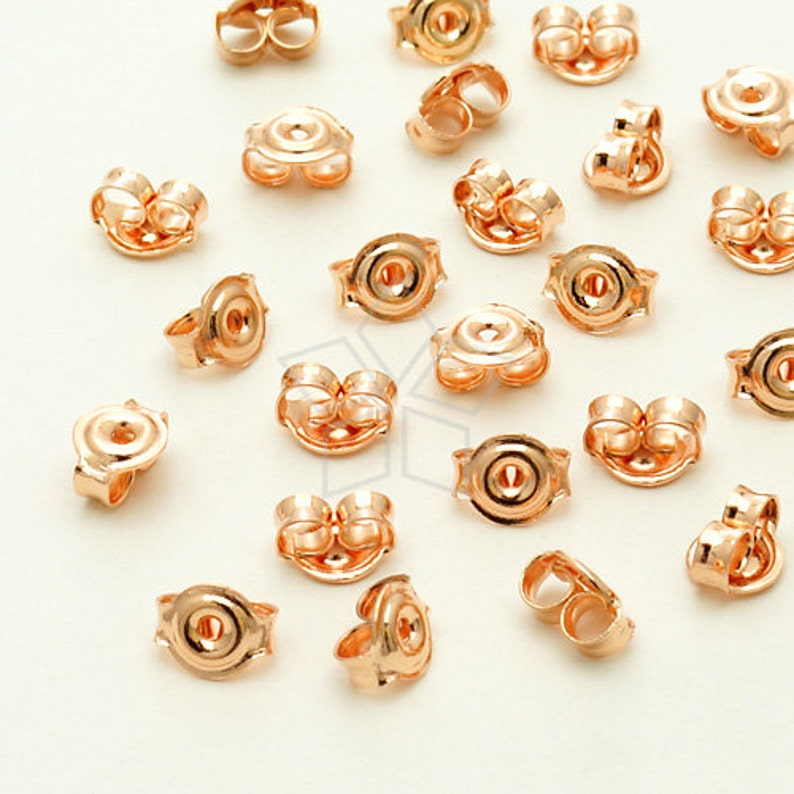 dd073e0701e7f XC-112-RG / 100 Pcs - High Quality Ear Studs Back Stoppers, Rose Gold  Plated Brass
