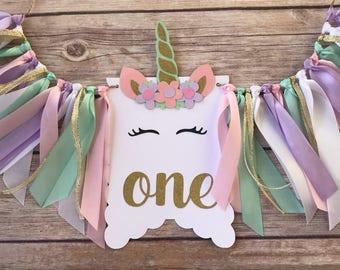 PartyTalk Unicorn 1st Birthday Party Decorations Kit