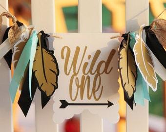 NEW!!  Wild One Birthday | High Chair Banner | Highchair decoration, photo prop First Birthday 1st