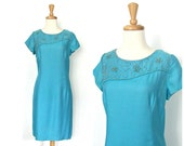 1960s Shift Dress - 60s p...