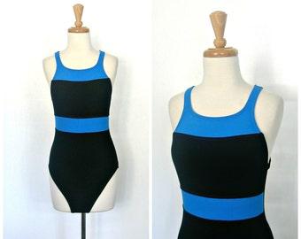 53b3851c69b9e 80s swimsuit - 90s swimwear - maillot - Jag Swimsuit - halter swimsuit - bathing  suit - one piece swimsuit - medium