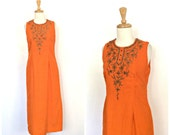 Vintage Beaded Dress - in...