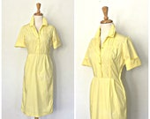 Vintage 70s Yellow Dress ...