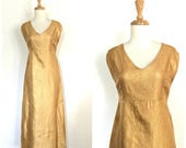 Vintage Gold Party Dress ...