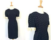 Vintage Polka Dot Dress -...