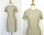 Vintage 60s Mod Dress - sheath - shift dress - cocktail dress - wiggle dress - Gay Gibson - midi - silk dress - Medium