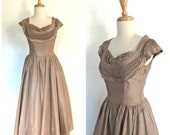 1950s Taffeta Party Dress...